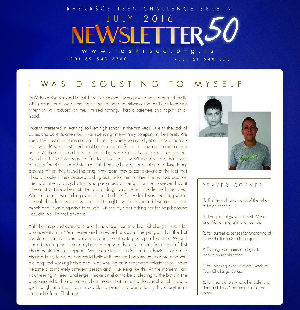TC Serbia's latest newsletter