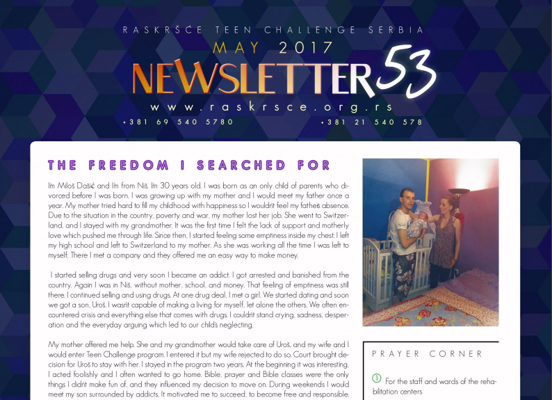 TC Serbia's latest newsletter