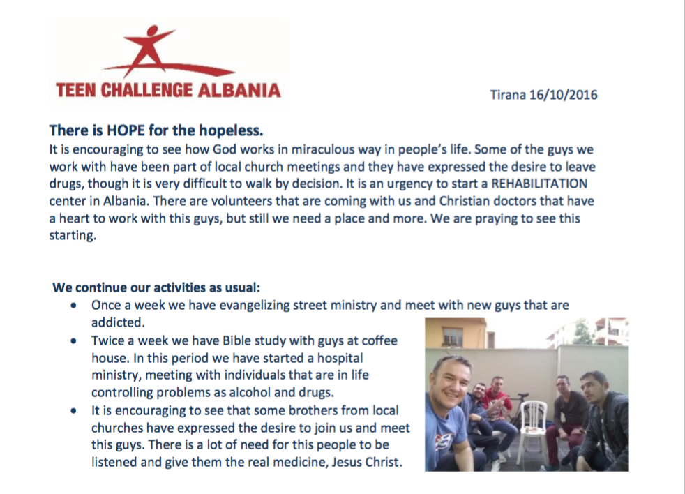 News from TC Albania